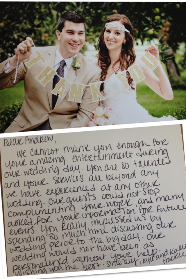 John Joseph Inn Wedding Thank you Card