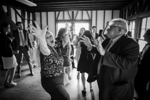 Dance party at Cayuga Lake Wedding LGBT